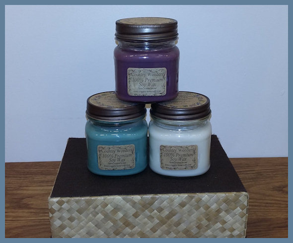 Handmade Soy Candles in Mason Jars