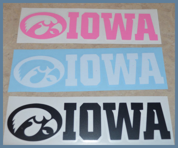 Support Your Iowa Hawkeyes with Vinyl Decals