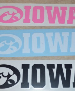 Iowa Hawkeye Decals