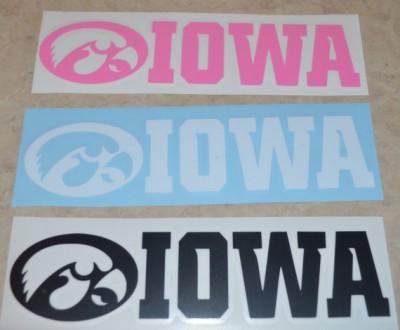 Iowa Hawkeye Decals