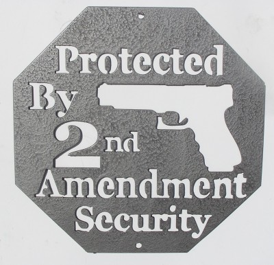 Second Amendment Wall Art in Gray