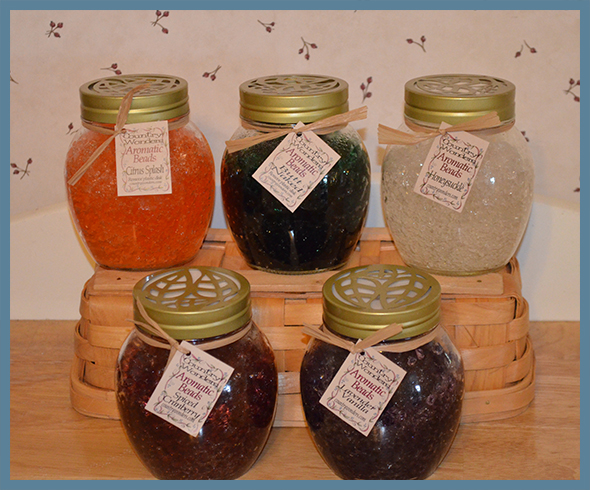 Aromatic Beads Air Fresheners will freshen up your room with no chemical spray.